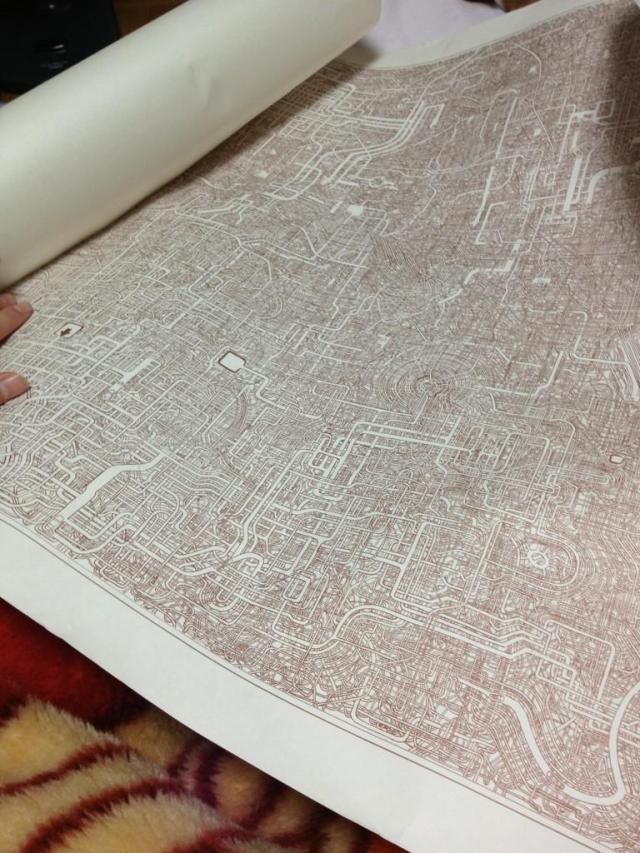 Mê cung vẽ bằng tay trên khổ giấy A1